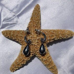 SILPADA .925 Silver Teardrop Post Earrings P1442